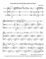 Concertino for French Horn and Low Brass