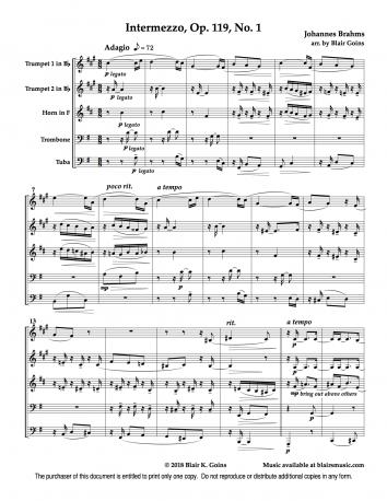 Intermezzo, Op. 119, No. 1 by Brahms (download)