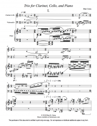 Trio for Clarinet, Cello, and Piano (download)
