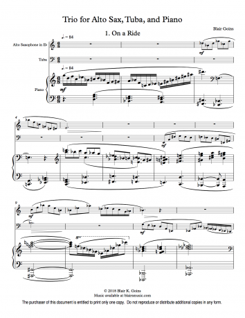 Trio for Alto Sax, Tuba, and Piano (download)
